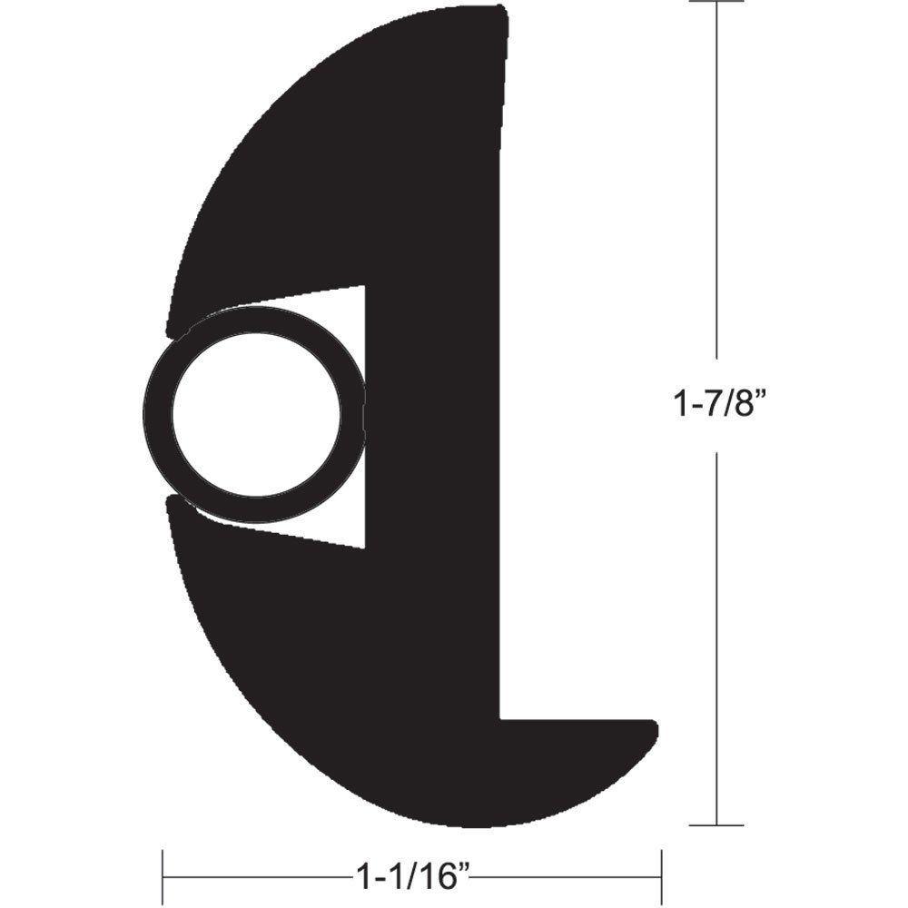 TACO Flex vinil Rub Rail Kit - preto com inserção de preto - 50 '