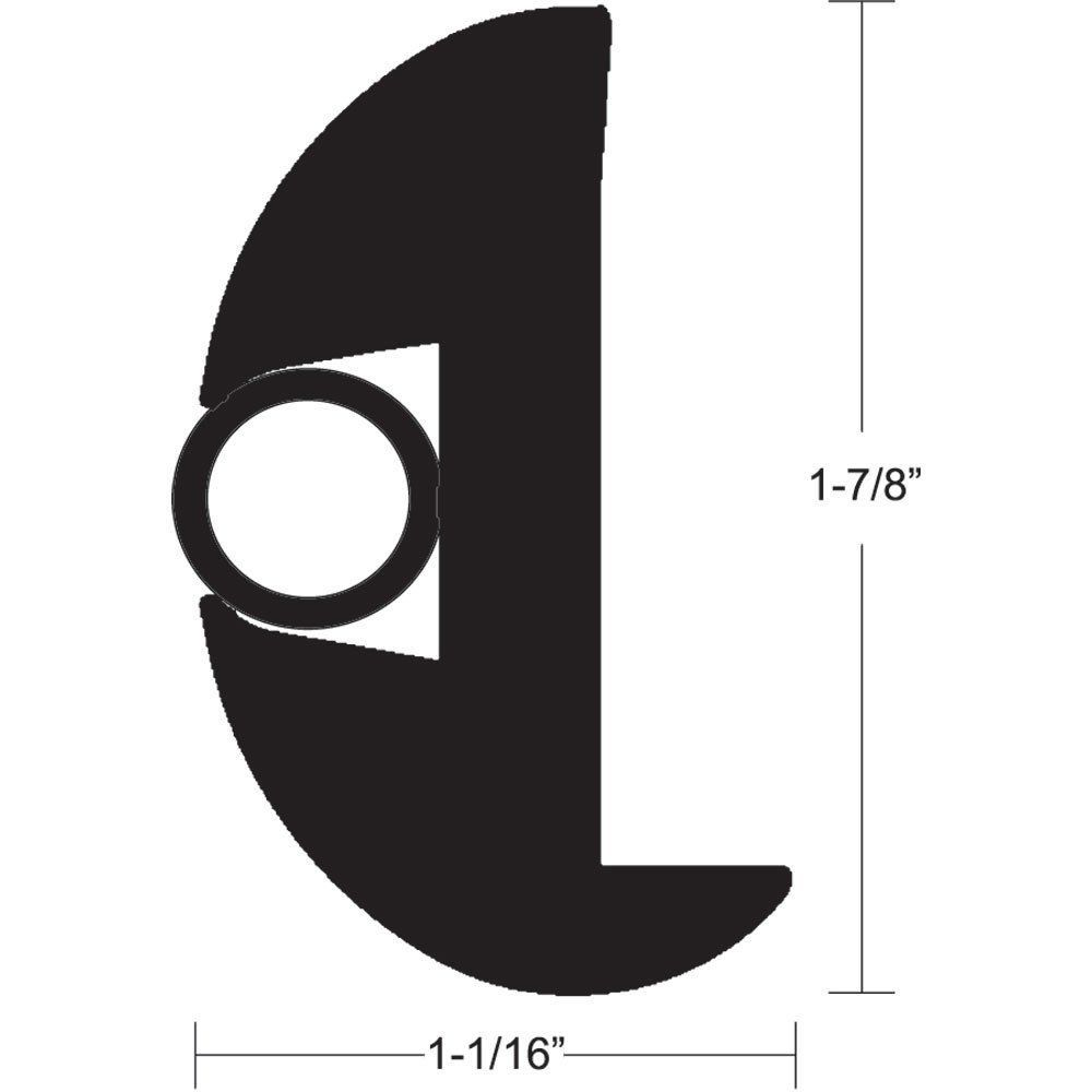 TACO Flex vinil Rub Rail Kit - preto com inserção de preto - 70 '