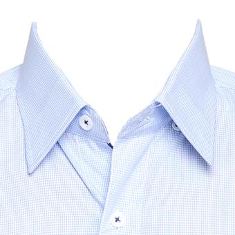 Camisa xadrez c/ azul masc. manga longa  - Grife Valley