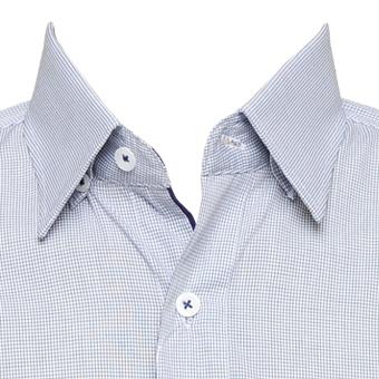 Camisa xadrez c/ preto masc. manga longa  - Grife Valley