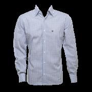 Camisa masc. xadrez c/ verde