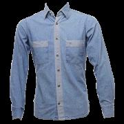 Camisa jeans claro masculina - modelo 2017