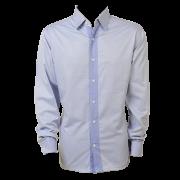 Camisa masc. ML azul liso