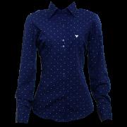 Camisa fem. marinho estampada ML