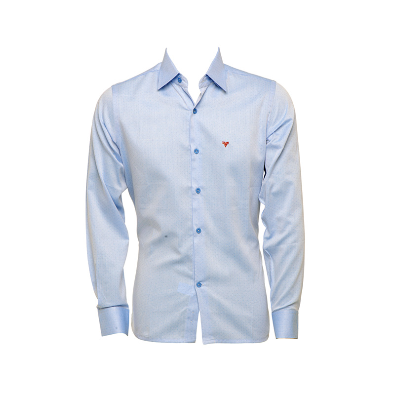 Camisa masc. manga longa Valley azul claro  - Grife Valley