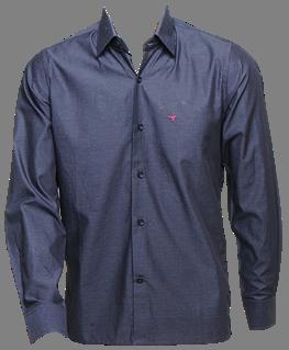 Camisa masc. ML cinza escuro  - Grife Valley