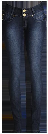 Calça fem. skinny jeans escuro  - Grife Valley