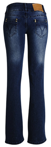 Calça fem. jeans marinho flear  - Grife Valley