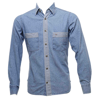 Camisa jeans claro masculina - modelo 2017  - Grife Valley