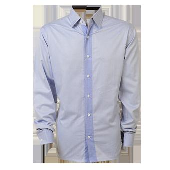 Camisa masc. ML azul liso  - Grife Valley