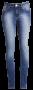 Calça fem. jeans marinho alta