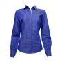 Camisa fem. azul estampada