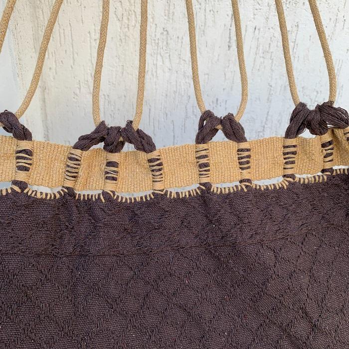 Rede de Descanso Bucho de Boi Chocolate com Varanda Caramelo