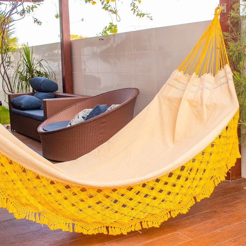 Rede de Descanso Casal Varanda Top Amarela
