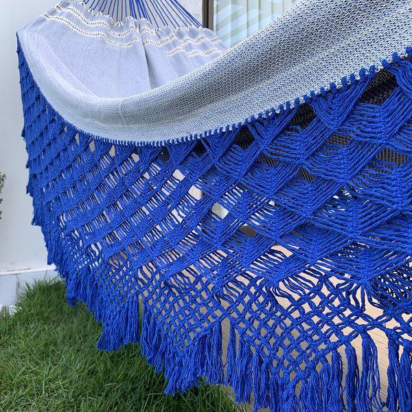 Rede de Descanso Casal Varanda Top Azul