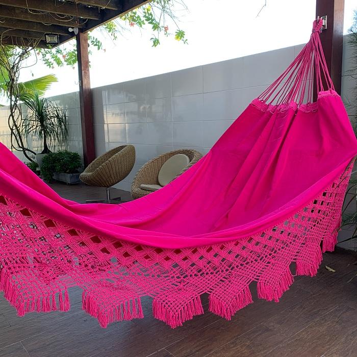 Rede de Descanso Gabardine cor Rosa Pink