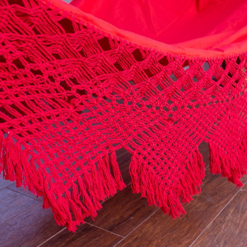 Rede de Descanso Gabardine cor Vermelho