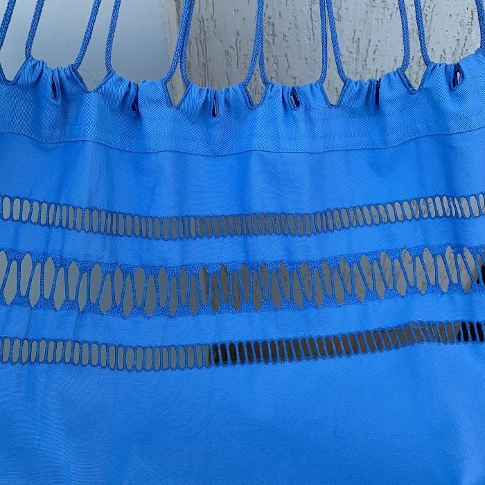Rede de dormir Casal Gabardine Azul Bebê Varandas com Linha
