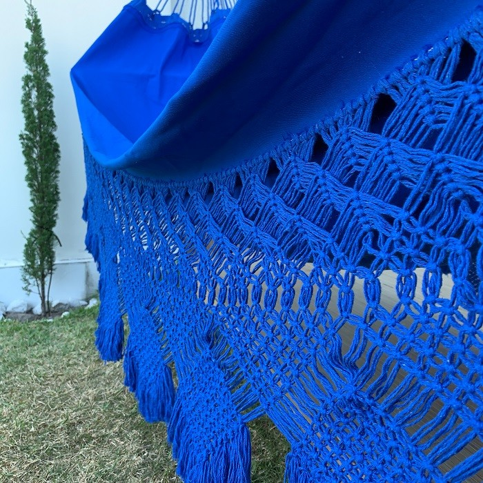 Rede de Dormir Casal Gabardine Azul Royal