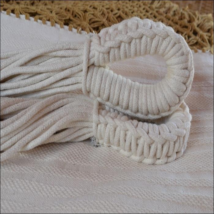 Rede de Dormir e Descansar Casal Algodão com Varanda Caramelo