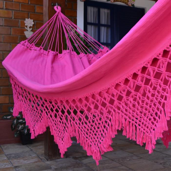 Rede de Dormir e Descansar Casal Clone com Varanda Macramé