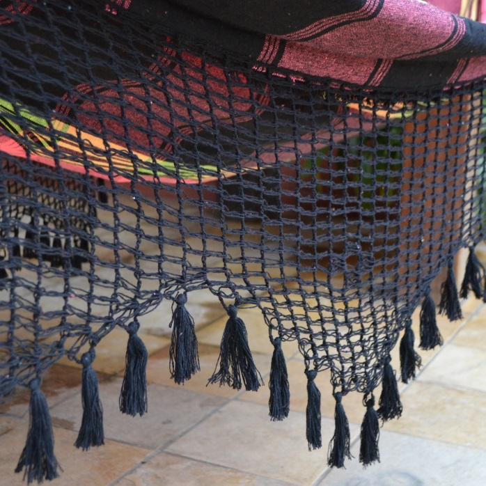 Rede de Dormir e Descansar Coloridas Casal Varanda Crochê