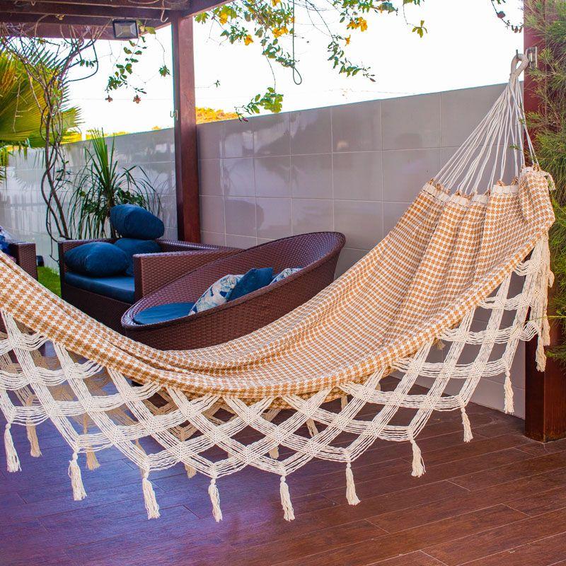Rede de Dormir e Descanso Casal Estrela Guia Bege