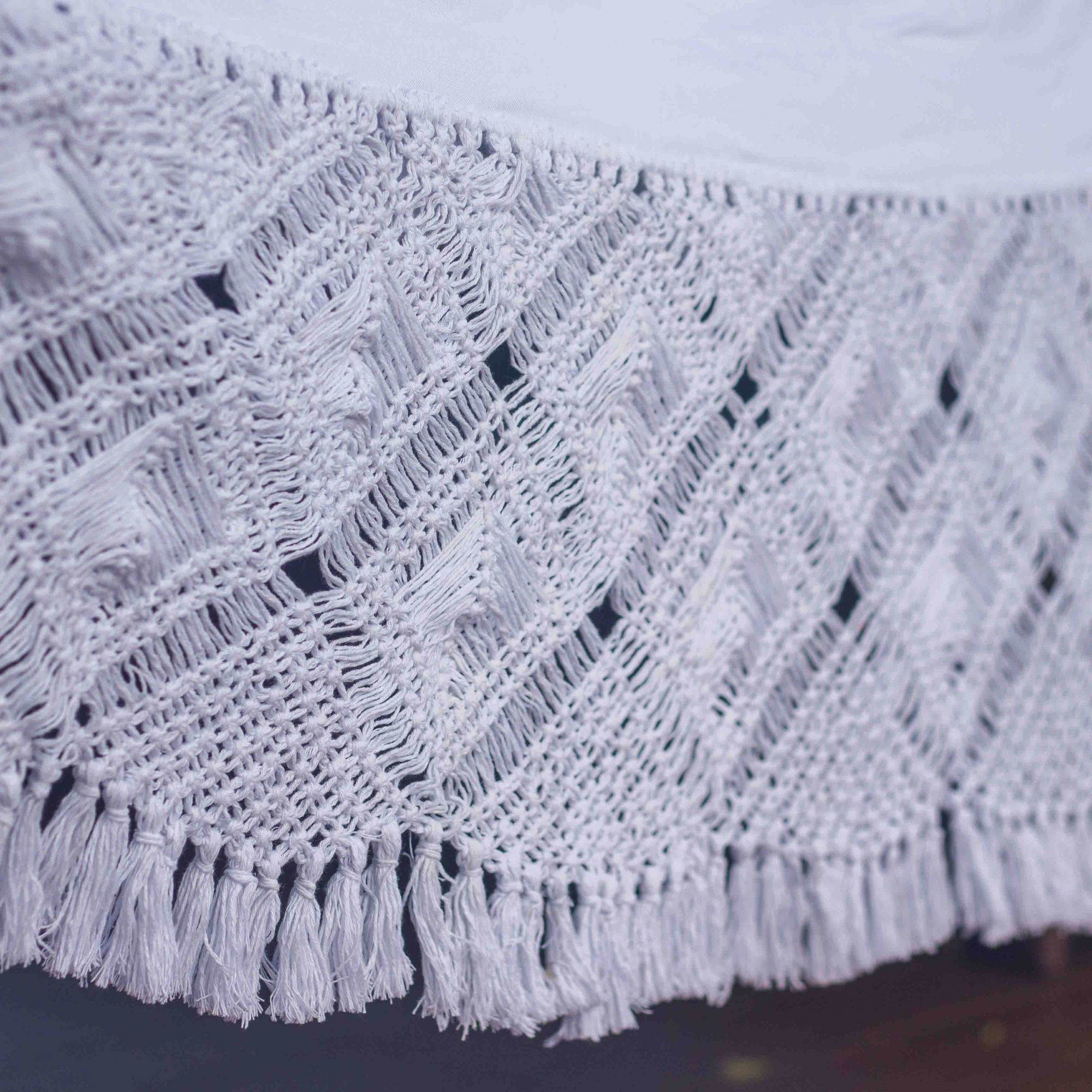 Rede de Dormir Gabardine Luxo Branco