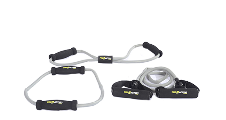 """Kit com 3 Elásticos Estensor em """"O"""", """"8"""" e tubo  Ref: G184  - HB FISIOTERAPIA"""
