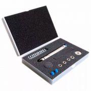 Kit Caneta Diamantada 8 mm em Inox com 5 ponteiras