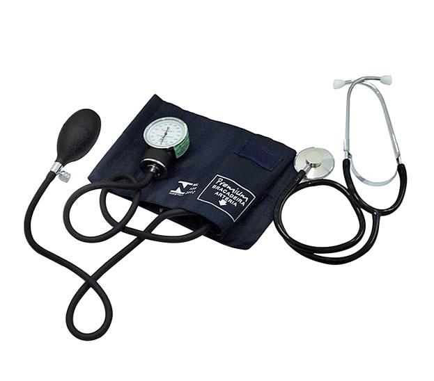 Aparelho de Pressão Arterial c/ Estetoscópio - Velcro - Premium  - HB FISIOTERAPIA