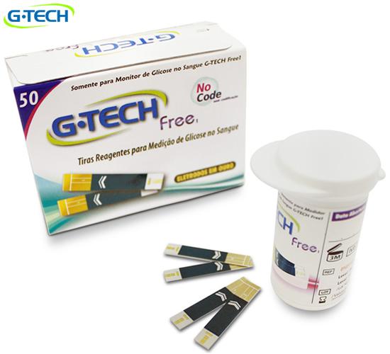 Tira Reagente p/ G-Tech Free - Caixa c/ 50 tiras - HB FISIOTERAPIA