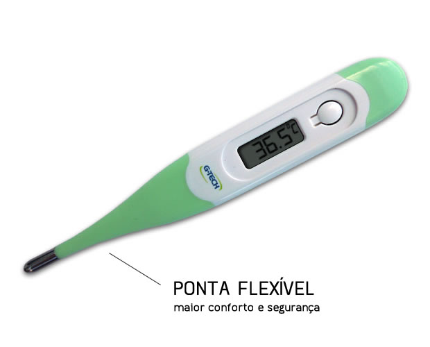 Termometro Clinico Digital de Ponta Flexível - G-Tech - HB FISIOTERAPIA
