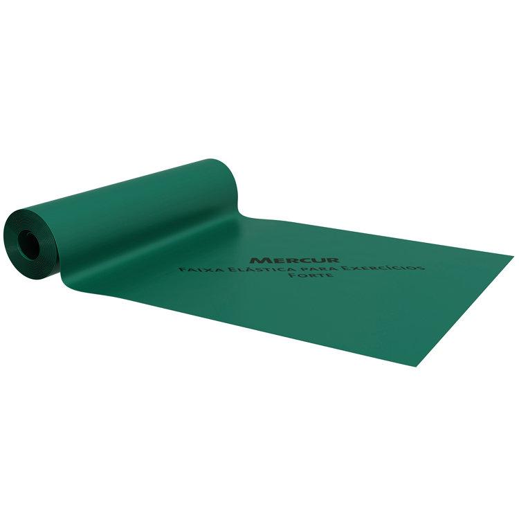 Faixa Elástica Mercur para Exercícios Verde - Metro  - HB FISIOTERAPIA