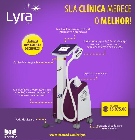 LYRA - Equipamento de Luz Intensa Pulsada - IBRAMED  - HB FISIOTERAPIA