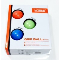 Bolas de Aperto Kit com 3 Unidades -  Fraca, Média e Forte, 5cm - Liveup Sports  - HB FISIOTERAPIA