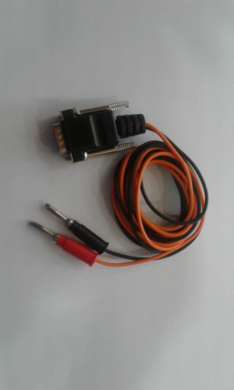 Cabo para Ionização Plug Banana / Banana 4 mm   - HB FISIOTERAPIA