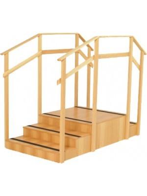 Escada 2 e 3 degraus c/ corrimão - Ref 2014  - HB FISIOTERAPIA