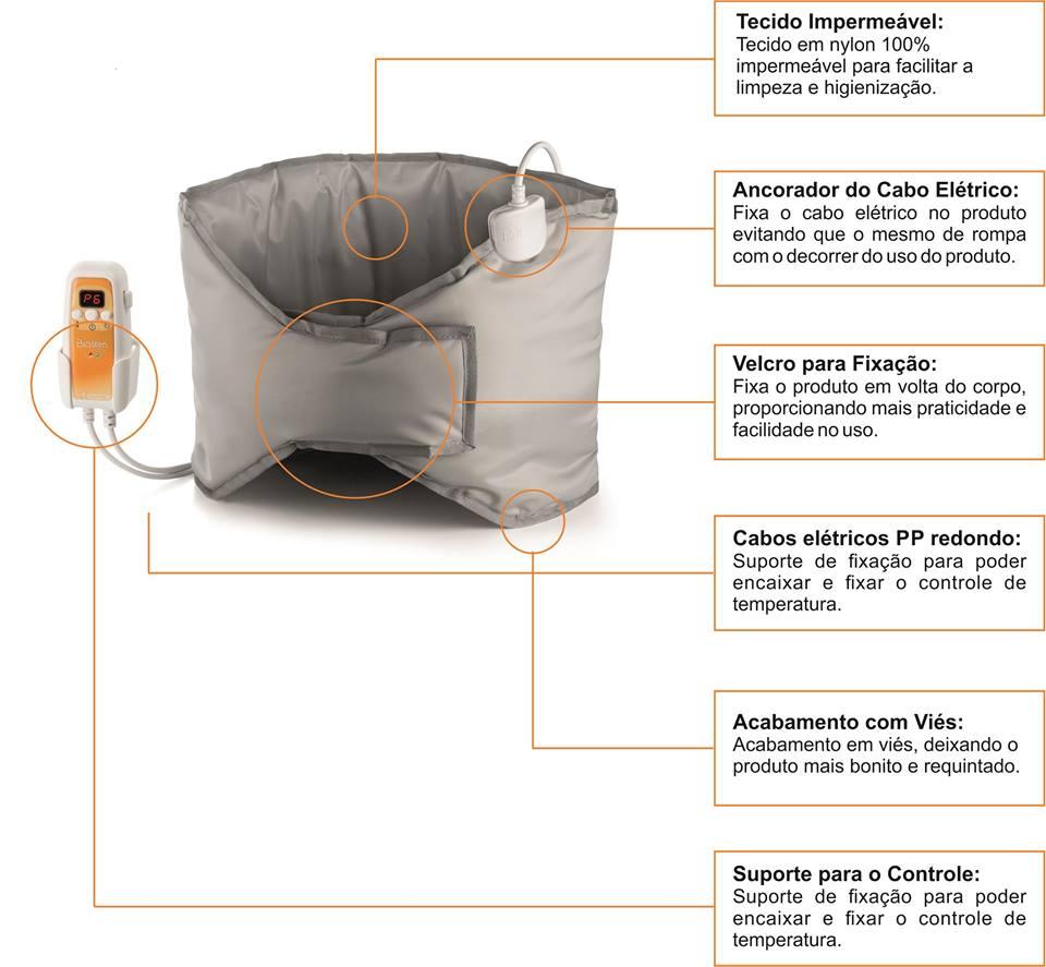 FAIXA TÉRMICA DIGITAL BIVOLT automática . Medidas : 1.30 X 0.30 m Bioterm  - HB FISIOTERAPIA