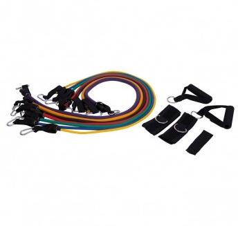 Kit Extensor com 7 Elástico - Liveup Sports  - HB FISIOTERAPIA
