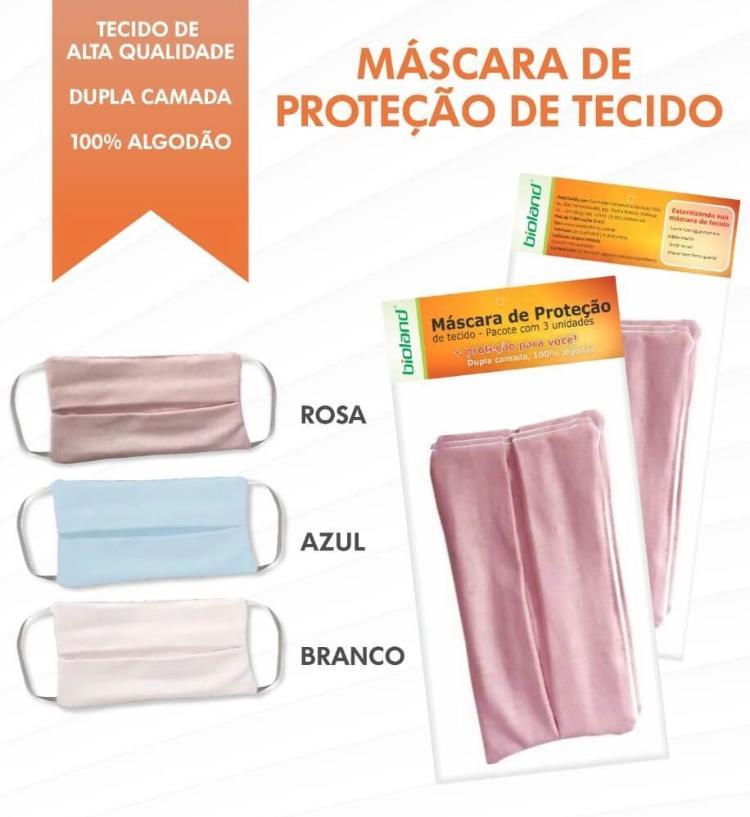 Máscara Dupla Camada em 100% algodão pacote com 3 unidades  - HB FISIOTERAPIA