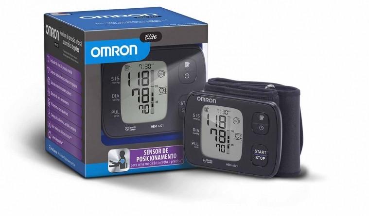Monitor de pressão arterial de Pulso Automatico Ref: HEM-6221- BR  - HB FISIOTERAPIA