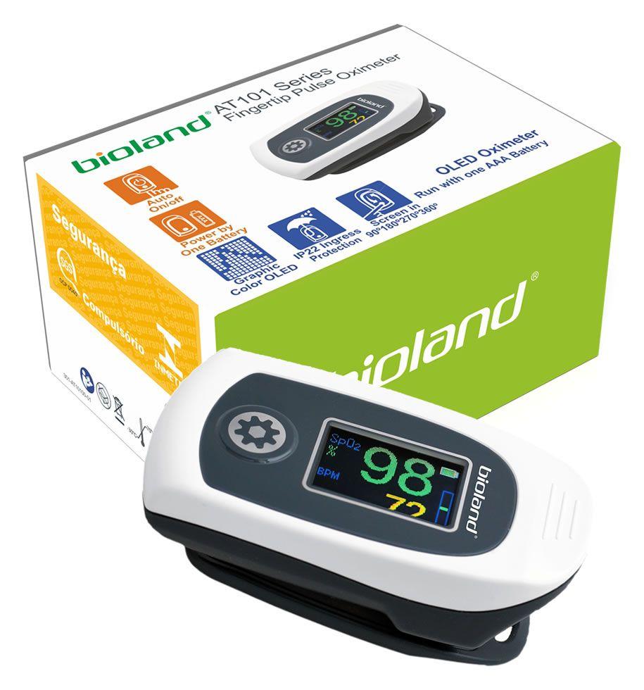 Oximetro de Dedo Adulto e Infantil  Bioland Mod. AT101C  - HB FISIOTERAPIA