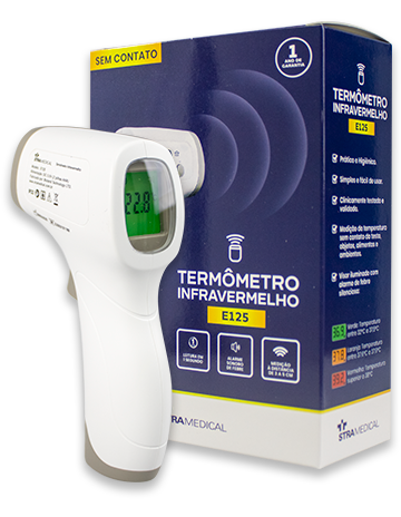 Termometro Infravermelho Digital sem Contato. Ref. E125  - HB FISIOTERAPIA