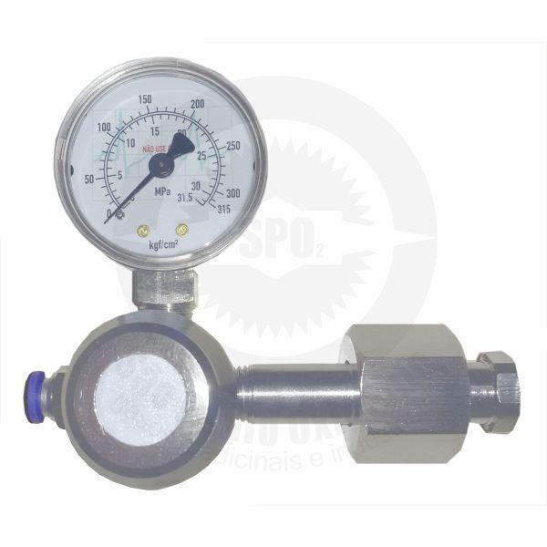 Válvula  Reguladora de pressão para CO2 medicinal com 01 saída.  - HB FISIOTERAPIA