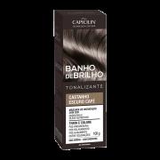 Banho De Brilho Castanho Escuro Café Capicilin 100g