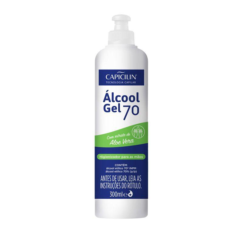 ÁLCOOL EM GEL - 70° (300 ml)