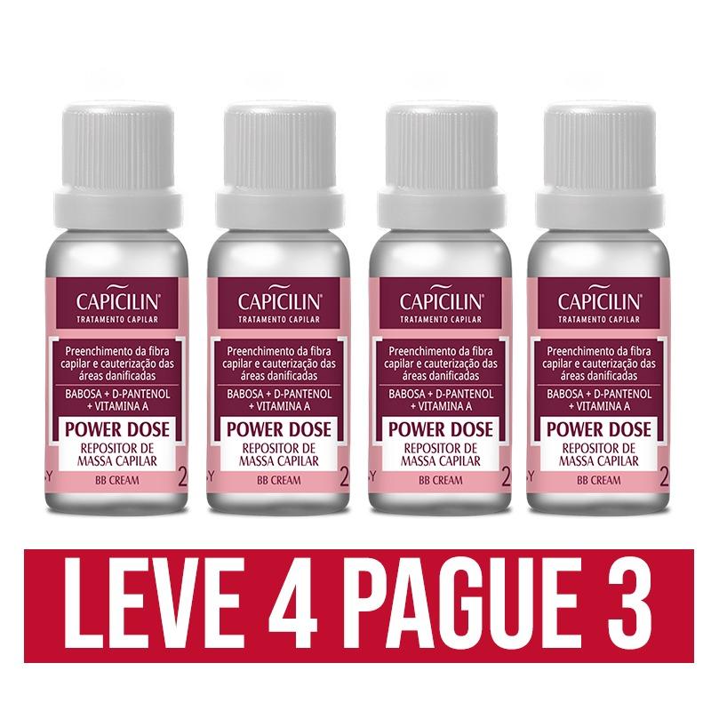 Repositor De Massa Capilar Power Dose Capicilin 20ml Leve 4 Pague 3