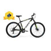 Bicicleta GTS Aro 29 Freio a Disco Câmbio Shimano 24 Marchas e Amortecedor + Bolsa de Selim com Kit de Ferramentas de Brinde | GTS M1 Obstaculo 2.0