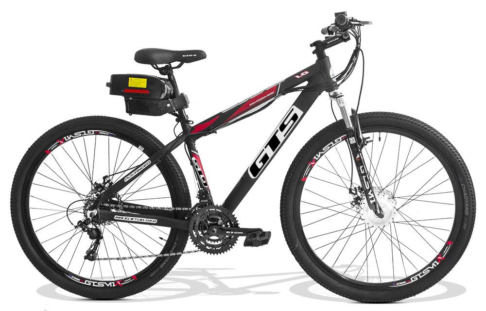 Bicicleta Elétrica GTS Aro 29 Freio a Disco Câmbio Shimano 21 Marchas e Amortecedor   GTS M1 Advanced 1.0